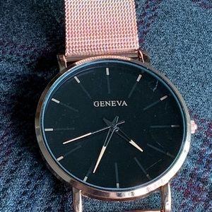 Brand New Geneva, Ladies rose gold watch with box